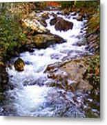 Courthouse River In The Fall Filtered Metal Print