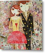 Courting Couple Metal Print