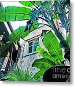Courtyard Feelings Cafe Nola Metal Print