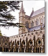 Courtyard Salisbury Cathedral - England Metal Print