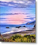 Cove On The Lost Coast Metal Print