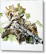 Covered And Ready Metal Print