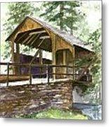 Covered Bridge At Knoebels  Metal Print