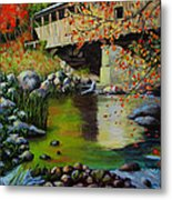 Covered Bridge Metal Print by Suni Roveto