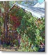 Covered Cabin Metal Print