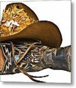 Cowboy Hat And Boot Metal Print