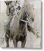 Cowboy Robber, C1900 Metal Print