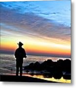 Cowboy Sunrise Metal Print