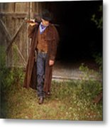 Cowboy With Guns Metal Print