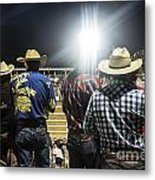 Cowboys At Rodeo Metal Print