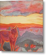 Coyote Cliff Metal Print by Vikki Wicks