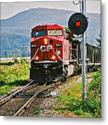 Cp Coal Train And Signal Metal Print