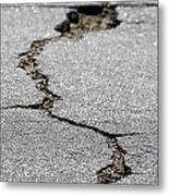 Crack In The Street Metal Print