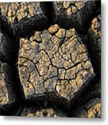 Cracked, Dried Out Mud, Mokolodi Nature Metal Print