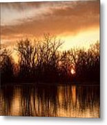 Crane Hollow Sunrise Before The Storm Metal Print