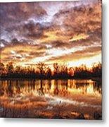 Crane Hollow Sunrise Boulder County Colorado Hdr Metal Print