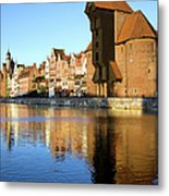 Crane In The Old Town Of Gdansk Metal Print