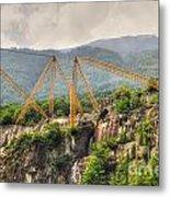 Crane On The Mountain Metal Print
