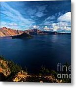 Crater Lake Minus Trees Metal Print