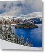 Crater Lake Panorama 1 Metal Print