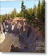 Crater Lake Pinnacles Metal Print