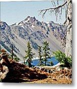 Crater Lake Through Nature Metal Print