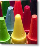 Crayon Tips 3 Metal Print