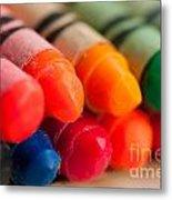 Crayons 2 Metal Print