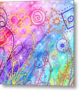 Crazy Flower Garden Metal Print