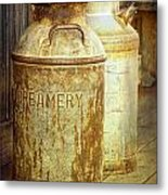 Creamery Cans In 1880 Town No 3098 Metal Print