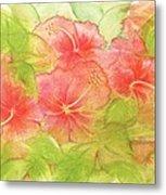 Creamsicle Hibiscus Metal Print