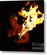 Creating With Fire Metal Print