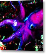 Creatures Of The Deep - The Octopus - V3 - Electric - Violet Metal Print by Wingsdomain Art and Photography
