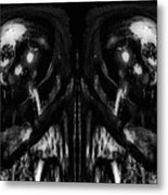 Black And White Mirror Metal Print