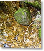 Creek Stones Metal Print