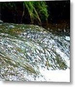 Creek Water Splash Metal Print