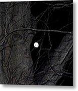Creepy Tree And Full Moon Metal Print