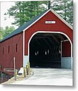 Cresson Covered Bridge Metal Print