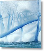 Crevasses Created By The Melting Metal Print