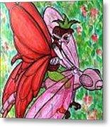 Crimson Wings Metal Print