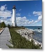 Crisp Point Lighthouse 10 Metal Print