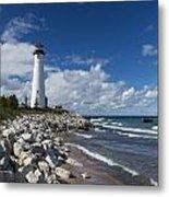 Crisp Point Lighthouse 11 Metal Print