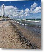 Crisp Point Lighthouse 13 Metal Print