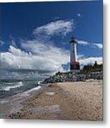 Crisp Point Lighthouse 6 Metal Print