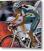 Criterium Bicycle Race 2 Metal Print
