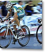 Criterium Bicycle Race 3 Metal Print