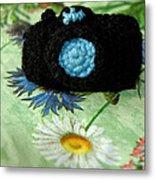 Crochet Camera Color Metal Print