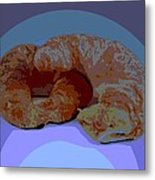 Croissants In Love Metal Print