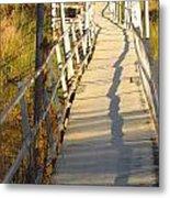 Crooked Bridge Metal Print