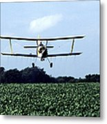 Crop Dusting Metal Print